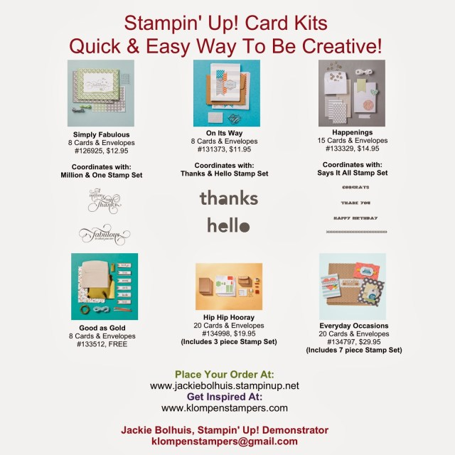 FREE Card Kit Give-a-way