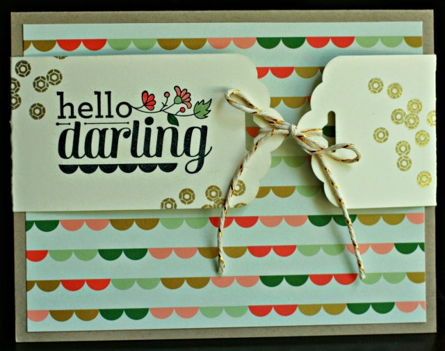 Scalloped Tag Topper Punch: Day 1