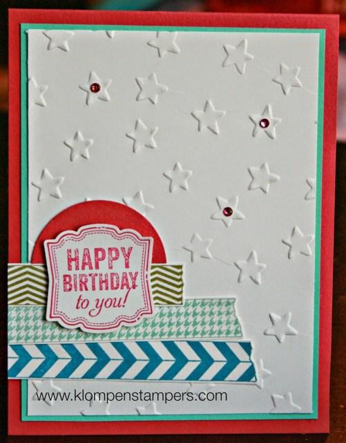 Lucky Stars Embossing Folder: Day 2