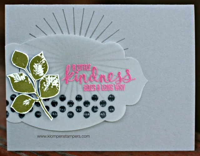 Another Card Using Vellum Cardstock