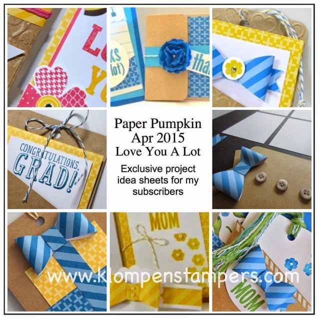 Alternate Ideas for Paper Pumpkin Kits