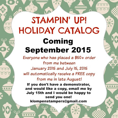 Stampin' Up! Holiday Catalog is COMING!!!