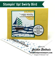 Swirly Bird Card Series #5