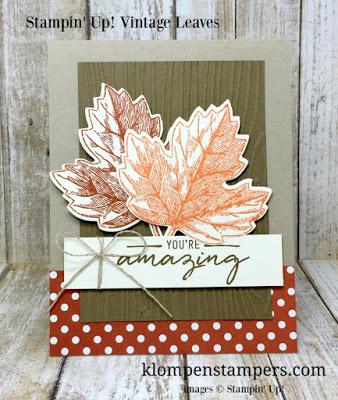 Vintage Leaves Card Series:  Card #1
