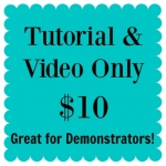 Purchase the monthly card kit tutorial and video only. Great for demonstrators or people who just want the instructions.