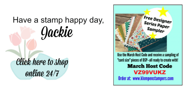 Place an order in March and receive free Designer Series Papers from Jackie Bolhuis