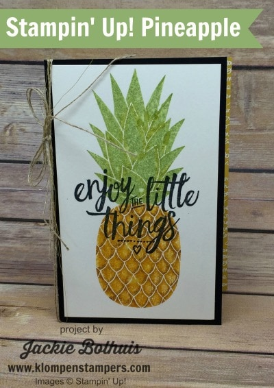 Friday Flashback:  How To Stamp a Pineapple