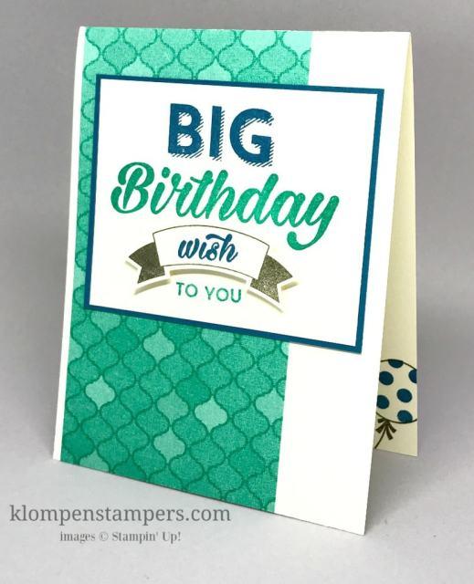 Birthday Bright Masculine Birthday Card–DSP ON SALE