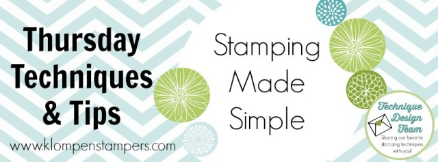 New stamping techniques shared every Thursday featuring different Stampin' Up! products.