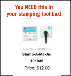 Instructions for using the stamp-a-ma-jig for perfect placement of your stamped images.