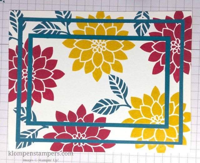 Triple Stamping technique with step-by-step instructions posted on blog. This is a quick and easy technique with dramatic results.