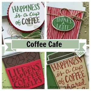 Online stamping class using Coffee Cafe stamp set from SU