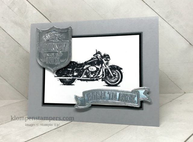 Faux Metal Technique with One Wild Ride Stamp Set