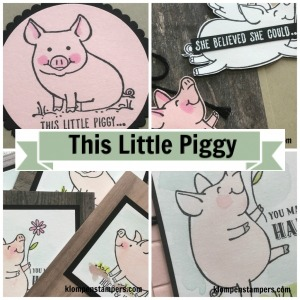 Online stamping class using This Little Piggy stamp set from Stampin' Up!