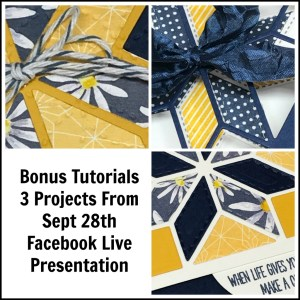 Tutorials for 3 projects using Christmas Quilt Bundle that I featured in my Facebook Live on September 28th