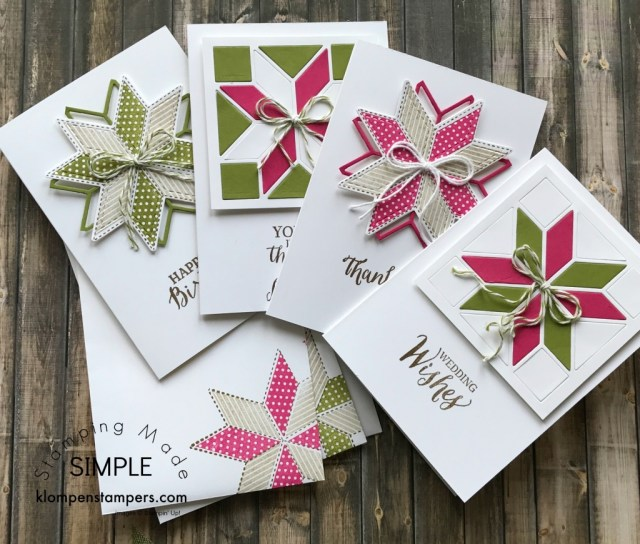 Christmas Quilt Bundle notecards. Great gift idea for anyone. Quick and easy!