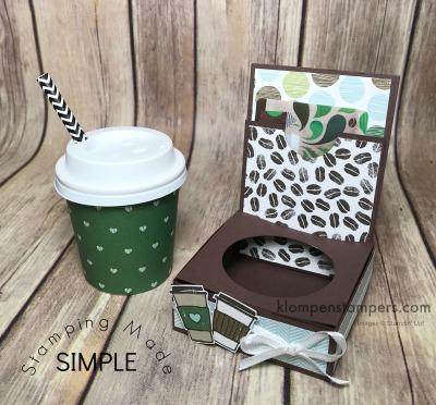 Mini Coffee Cup Gift Card Holder