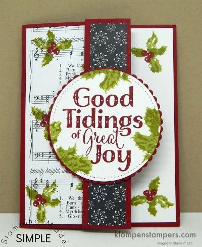 Easy Christmas Card Idea using Good Tidings Stamp Set