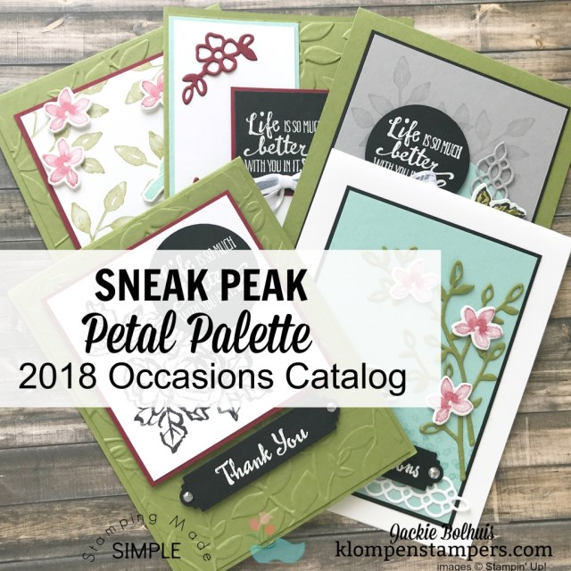 Petal Palette suite of products in the 2018 Occasions Catalog