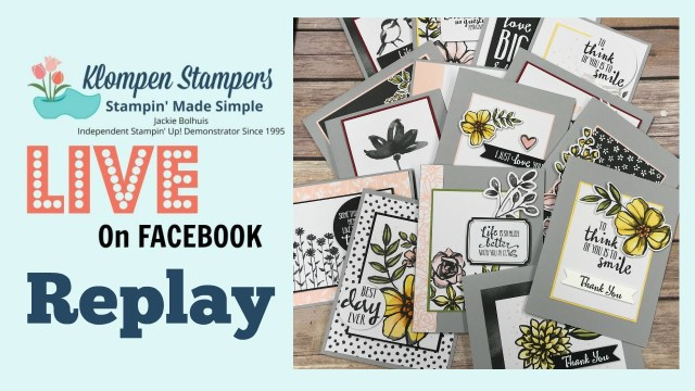 Quick & easy cards made with Memories & More. Reply of Facebook Live that aired 2/19/18