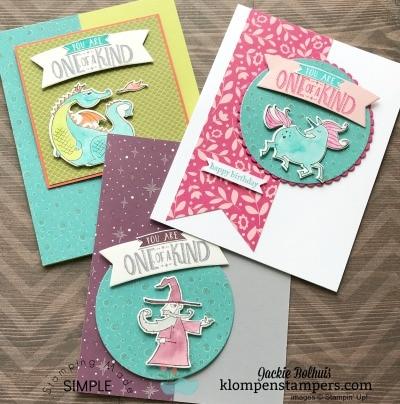 Fun Kid Cards Using Magical Day Bundle