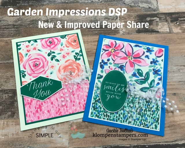 Designer Series Paper Share-Garden Impressions
