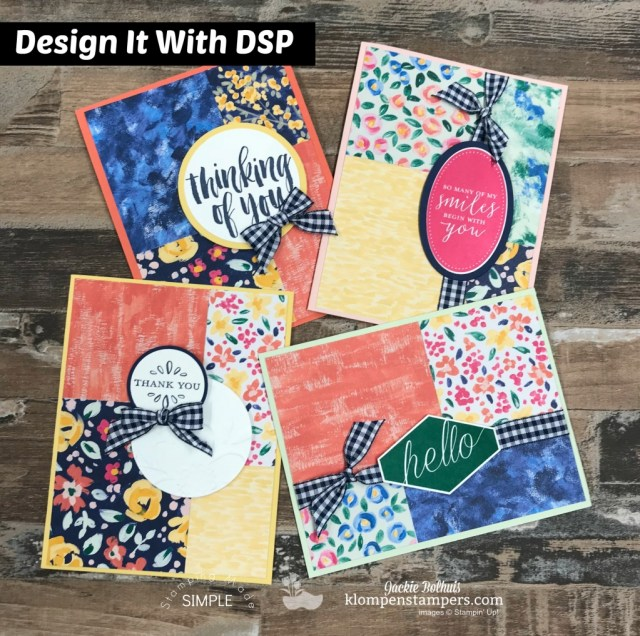 Design it with DSP - Garden Impressions. Quick & easy cards with DSP