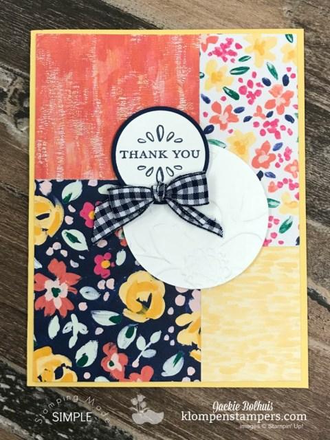 Simple Handmade Card 2 Featuring Garden Impressions Designer Paper