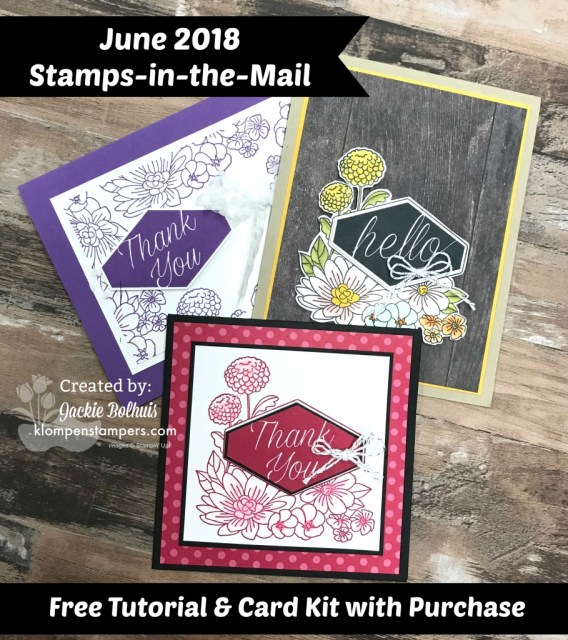 Klompen Stampers Stamps in the mail using Accented Blooms stamp set