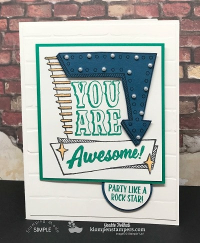 4 Cards Using Stampin Up Marquee Messages