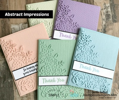 Stampin Up! Abstract Impressions 2-Step Stamped Card