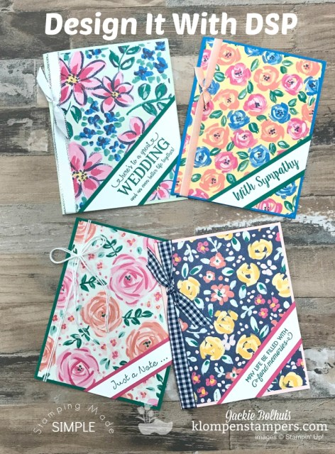 Easy Cards with Garden Impressions Designer Paper