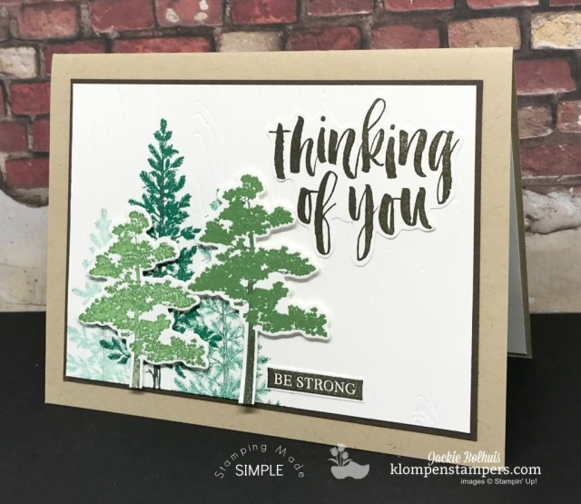 Rooted in Nature Thinking of you card