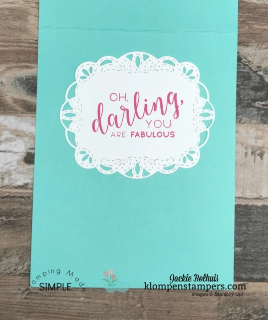 handmade cards with Jackie Bolhuis, Stampin' Up! Demonstrator