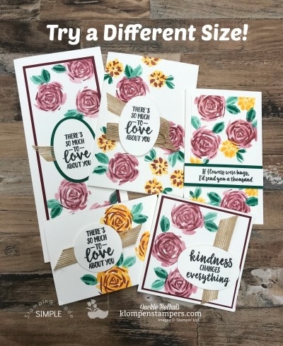 DIY Cardmaking: Size Options and Samples