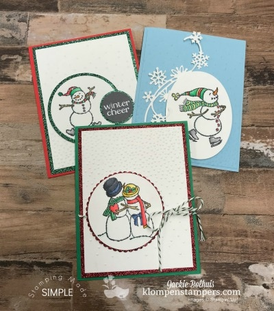 DIY Snowmen Cards with Marker Blending Tips