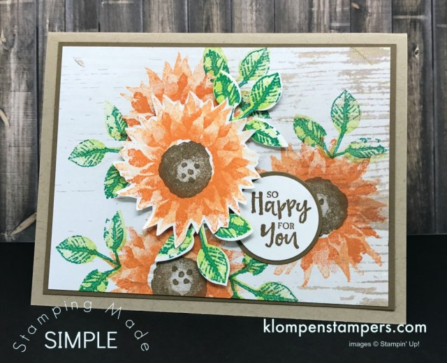 All-Occasion-Cards-Handmade-with-Sunflower-Leaves-on-Wood-Washed-Background
