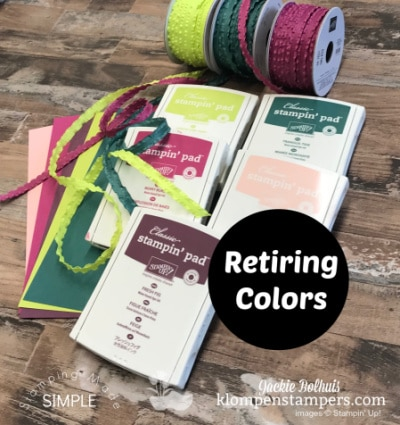 Hurry! Grab the Retiring Colors Plus SIP Greeting Cards