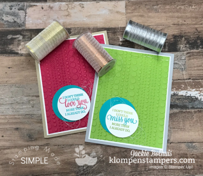 How to Use Metallic Thread on Greeting Cards