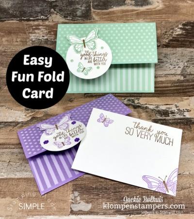 Fun Fold Card You Can Make Quick & Easy