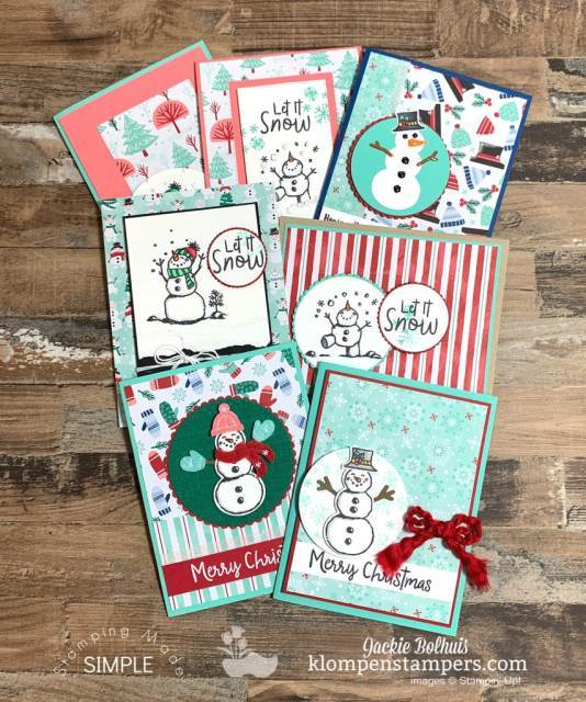 4-Christmas-Note-Cards-Simple-Cards-to-Make-with-Snowmen