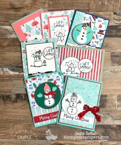 7 Adorable Handmade Cards with Snowman Season Stamp Set