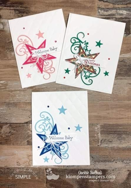 Adorable-Baby-Cards-Handmade-with-Bonus-Star-Christmas-Card-Handmade