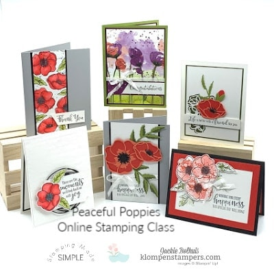 12 Beautiful Cards You Can Make Easily with the New Peaceful Poppies