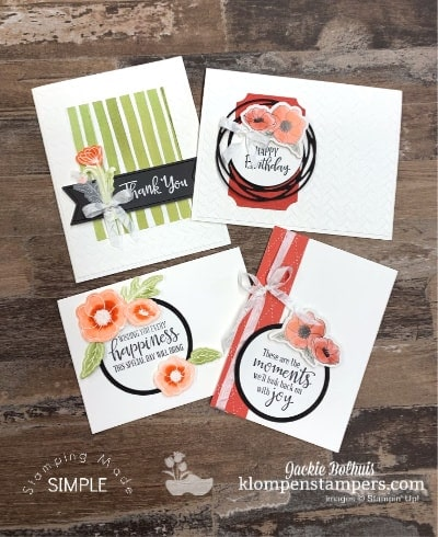 How To Use the Peaceful Poppies Elements on Cards