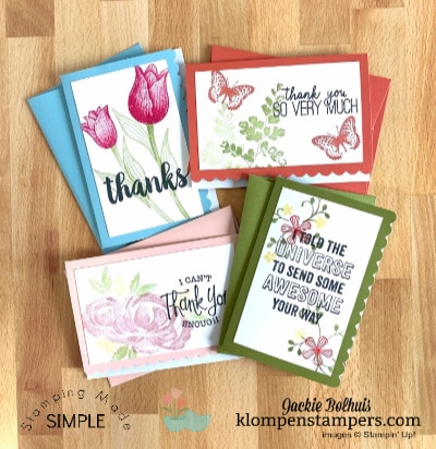 How to Keep it Simple in Card Making | 4 Stamp Sets Demonstrated