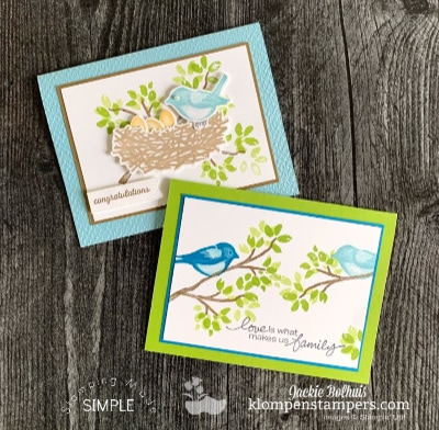 New! Simple Cards to Stepped Up Cards with Birds & Branches