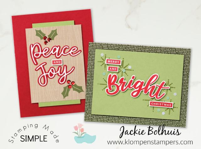 You can make your own Christmas cards with peace, joy and light.