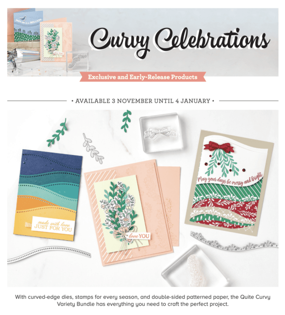 Don't miss the curvy celebrations exclusive early release products.