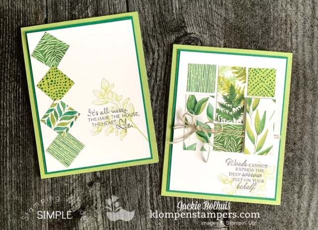 2 winning card ideas you can make with paper scraps in under 5 minutes.